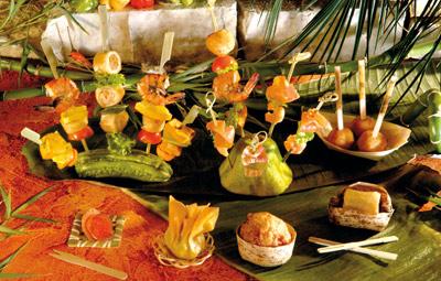 Présentation en bambou pour mariage écolomique